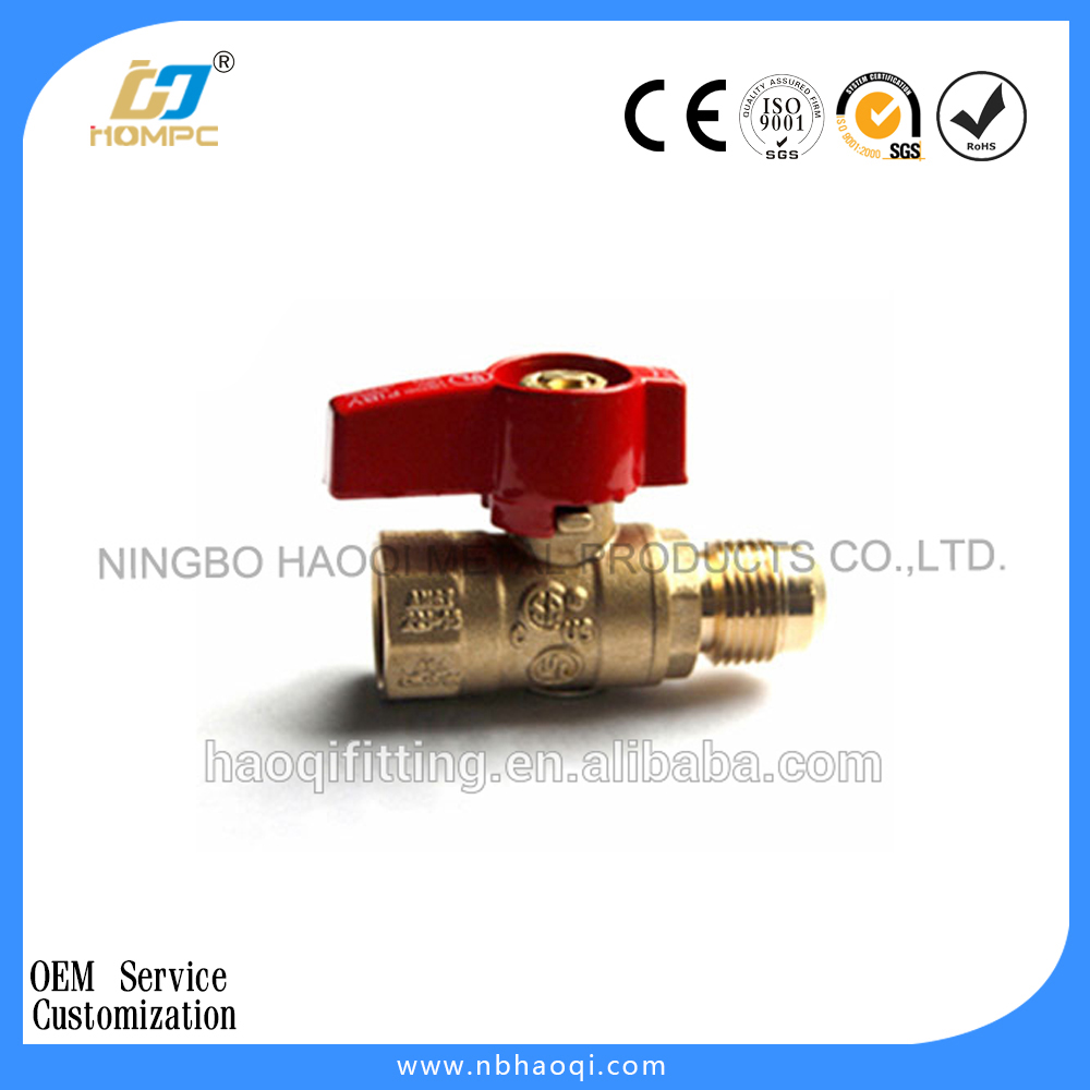 Flare x FIP Brass Gas Ball Valve