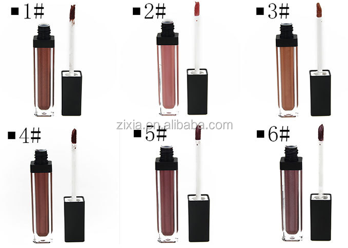 2017 Metallic matte liquid lipstick with private label shiny lipgloss customize your logo to make your own lipstick
