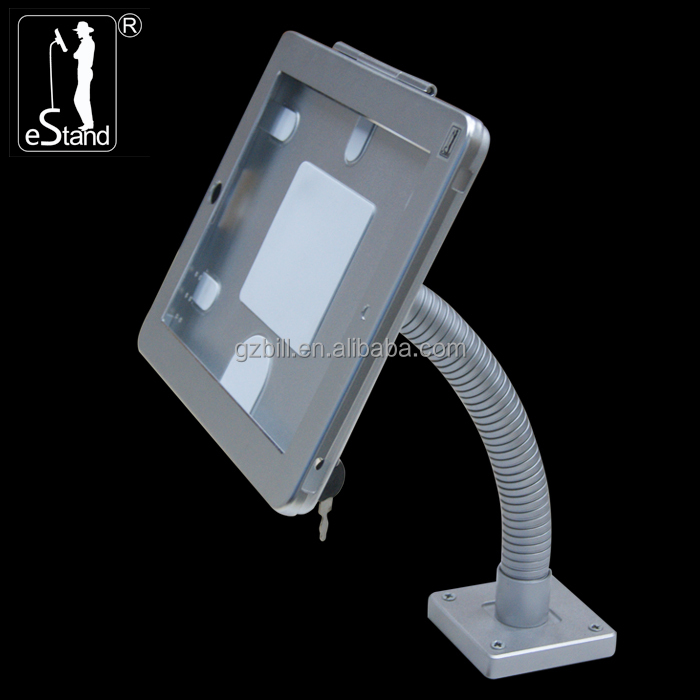 eStand BR24007 screw wall/desk <strong>payment</strong> lockable bracket for ipad pro tablet security kiosk