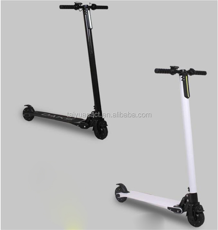 Best Selling Waterproof Carbon Fiber Foldable Light Weight Electric Foot Motor Scooter with Pedals