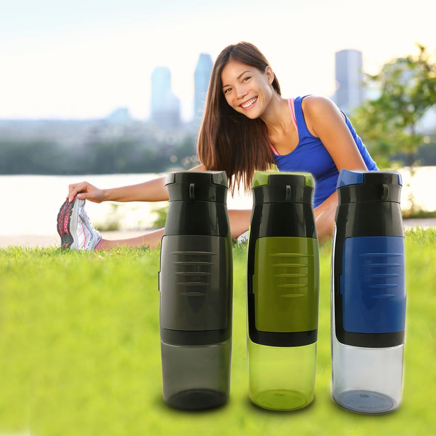 Trend 2019 New Product 750ml Portable Sport Plastic Drinking Water Bottle with Card Storage
