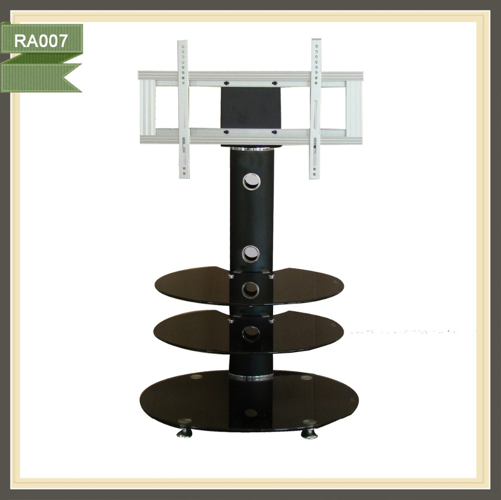 3 tier modern round tempered glass tv stand for living room furniture RA007
