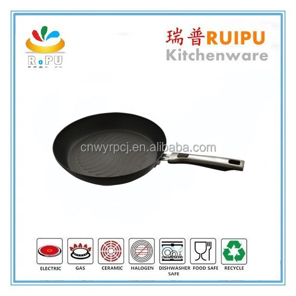 2015 hot selling aluminum nonstick low grill pan wmf cookware frypan nonstick calphalon cookware from zhejiang jinhua