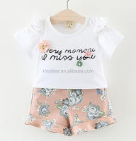 SEVWEN Infant And Toddlers Clothing Summer Baby Floral Ruffles Wear Clothes