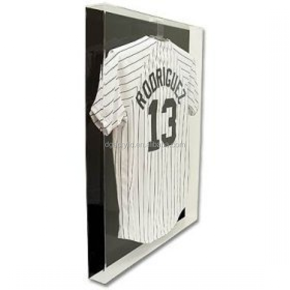 Transparent clear acrylic jersey display case