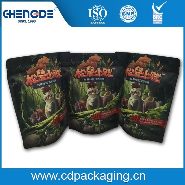kraft & plastic film laminated packaging pouch supplier