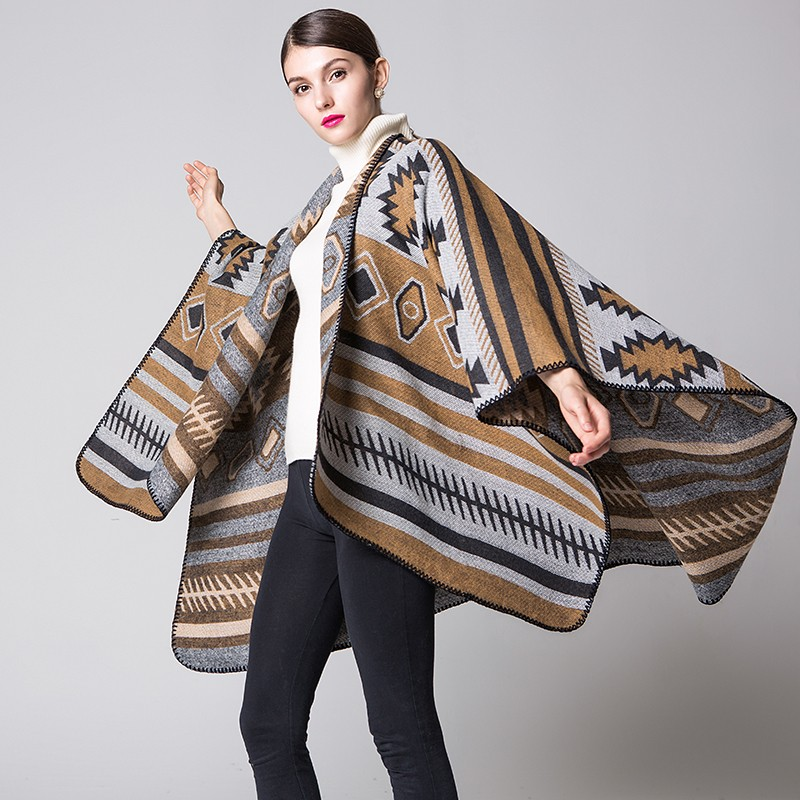 2016 Fashion wholesale acrylic wholesale poncho pashmina