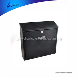 Metal Iron with coating wall mounted mailbox lockable letterbox postbox