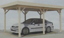 new design prefab wood carport
