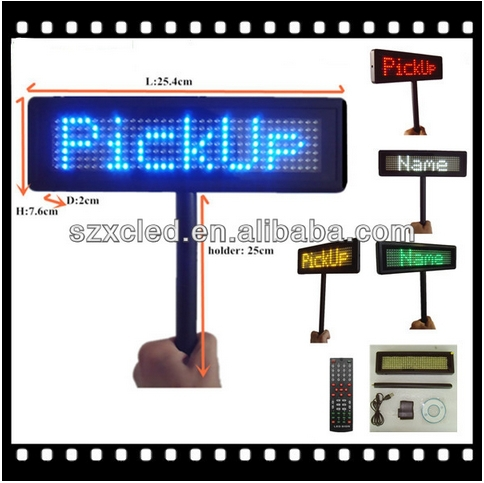 High Brightness Blue LED Placard for airport pickup