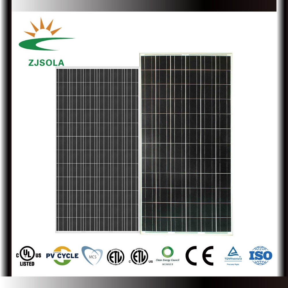 ZJSOLA paneles solares chinos precios, 290w poly solar pv modules free shipping high efficiency
