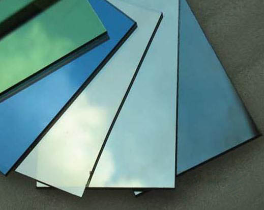 Custom thickness one way reflective tempered tinted glass for building
