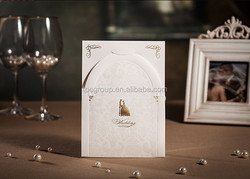 Embossed Customized Printing Wedding Invitation /wedding 3d pop up greeting card