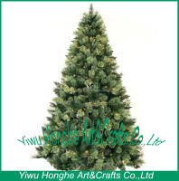 7 ft cashmere christmas tree ,yellow green leaf