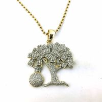 Custom Hip Hop Jewelry Money Tree