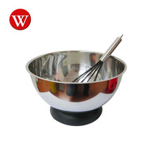 Stainless Steel Food Grade Professional Salad Bowl With Whisk And Stand Mixing Bowl Set