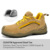 Lightweight fashion work shoes brand name safety shoes for work