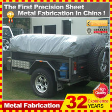 Foshan manufacture hard floor camper trailer with tent