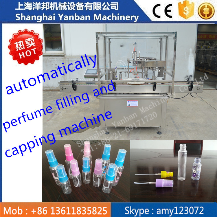 Shanghai good price bottle perfume Filling machine , automatic perfume bottle filling capping machine