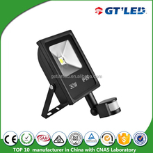 Waterproof ip65 led flood light with motion sensor switch for home 30w led emergency light