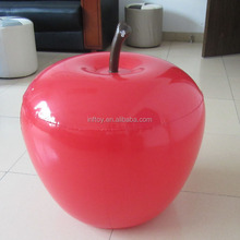 Red Air PVC Plastic Inflatable Apple Model For Promotion
