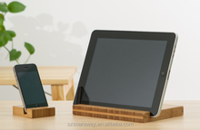 Hot sell Bamboo Stand For iPad Wooden Phone Holder
