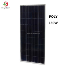 YangZhou 5BB 150W Polycrystalline silicon photovoltaic solar panel in China