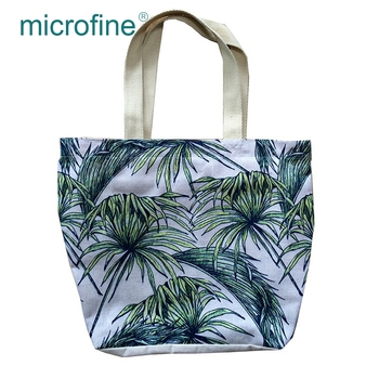 Best selling 100% cotton digital print knitting fabric for shopping cavas bag