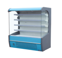 Commercial Supermarket Fridge Cabinet Freezer Refrigerator Showcase Upright Chiller Fruit and Vegetable Display Cooler