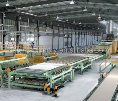 Full automatic small capcity gypsum plasterboard sheet manufacturing equipment plant