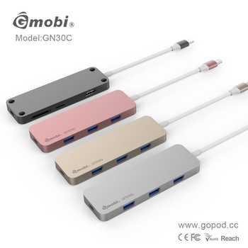 Gopod Core Competence Product USB Type-C 3.1 Hub Driver 7 Ports Perfectly Made For Apple Macbook 12''
