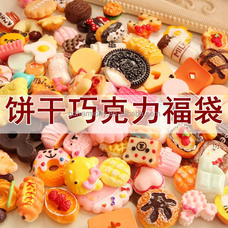 Simulation of biscuits to Resin DIY Jewelry Accessories cream phone case Blessing bag