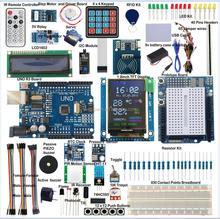 "ULTIMATE UNO R3 Starter Kit for Ardu RTC 1.8"" SPI TFT LCD1602 RFID BMP180 PIR"