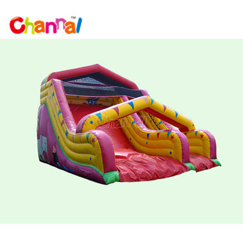Aladdin dry slide castle slide inflatable slide for sale