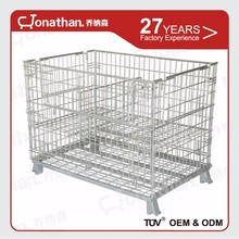 SXL-A foldable iron storage metal box collapsible mesh wire container