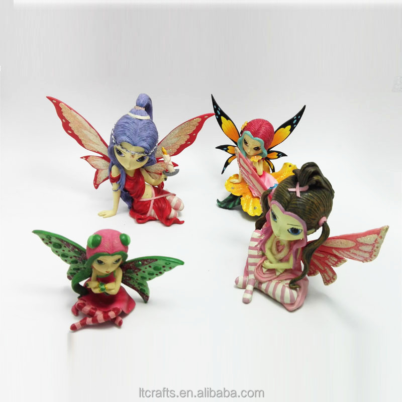 Custom fairy figurines Tinkerbell Doll Resin Fairy Figurines Wholesale