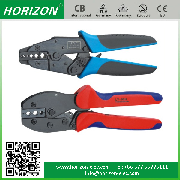 HS,LY,AP,ZDB,LAS,HSC8 Series Manual (non)Insulated Terminal,Coaxial Cable Conductor end-sleeve Ratchet crimping tool rivet