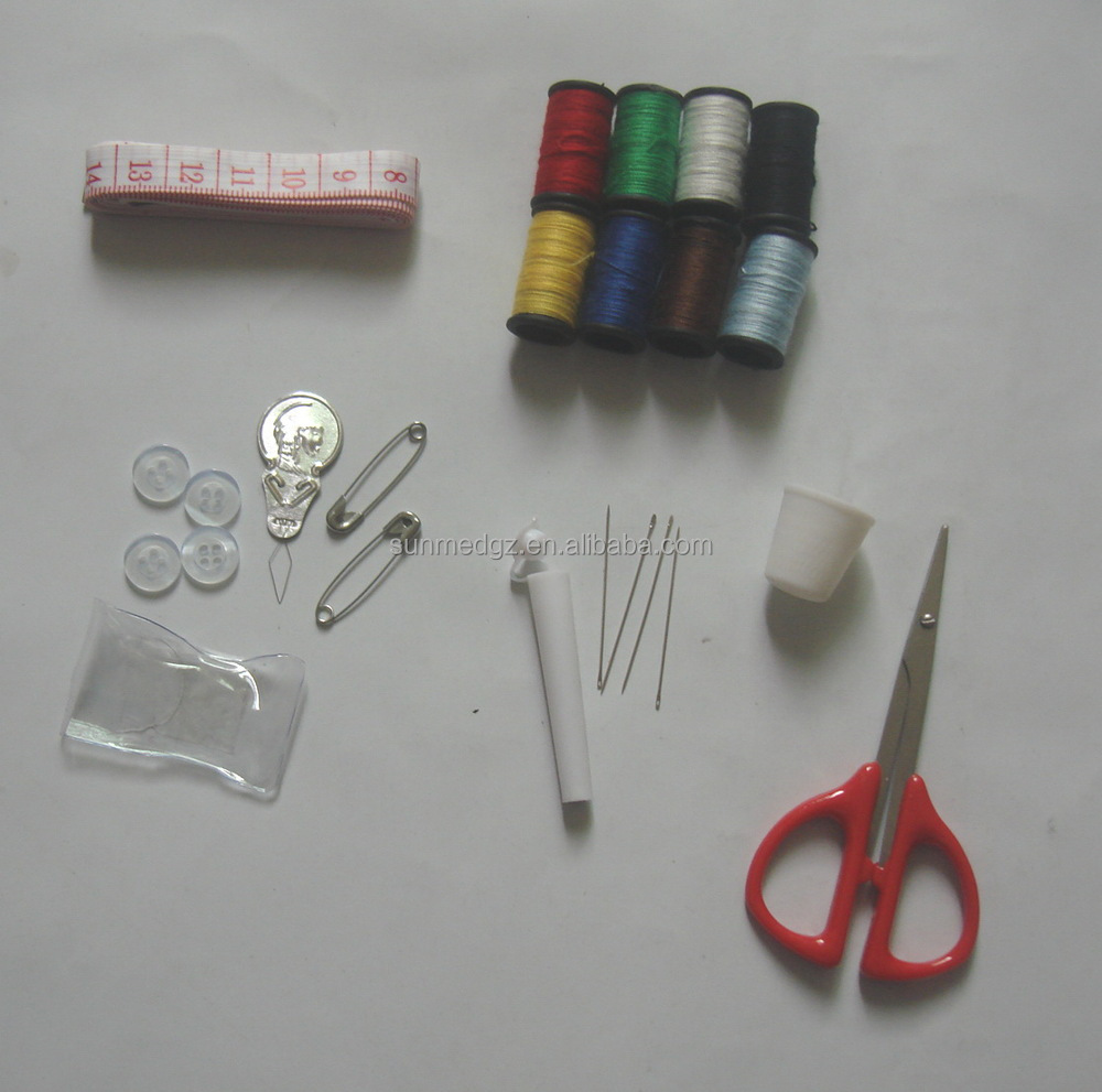 Mini PU or Nylon or set sewing kit with needle thread for hotel ,home,travel in pocket