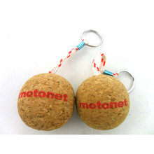 custom print floating cork keychain for wholesale
