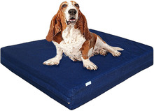 Orthopedic Memory Foam Dog Bed for Small, Medium to Large Pet, Waterproof Internal Cover with Durable Blue Denim Cover