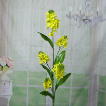 China manufacturer artificial rape flower cheap flower pots outdoor decoration