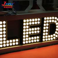 High quality LED front lit large bulb letter signs/wedding decoration light up letter