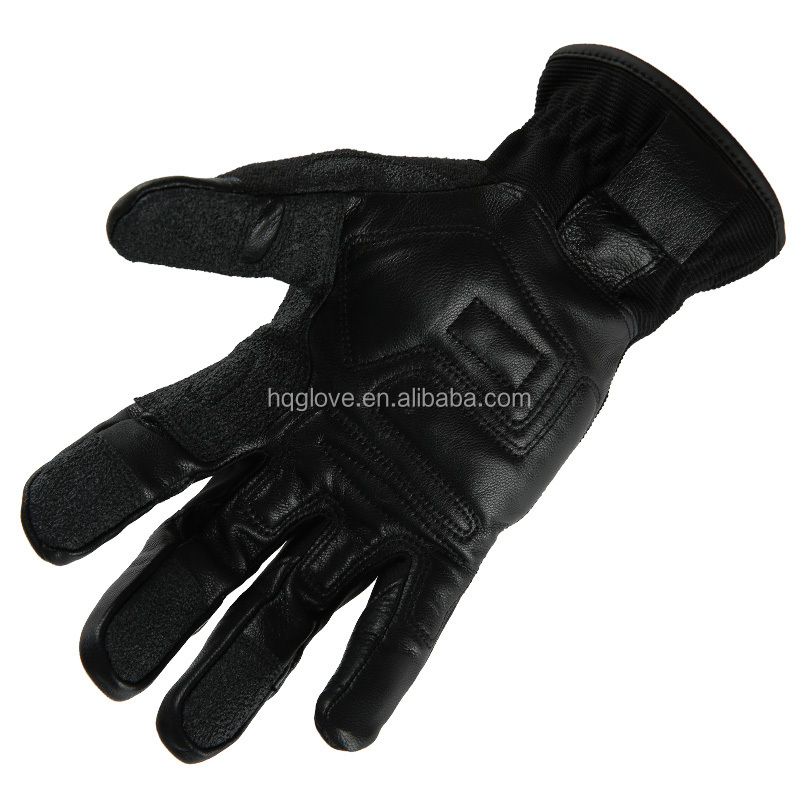 Back- 100%polyester tactical archer full leather full gloves