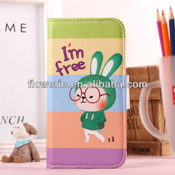 FL2934 2013 Guangzhou new arrival glasses bunny rabbit mobile phone case for samsung galaxy s4 i9500