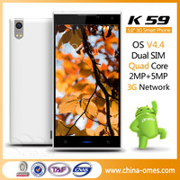 Best 5'' MTK6582 Quad Core Dual Sim 3G GPS Touch Screen Mobile Phone Without Camera
