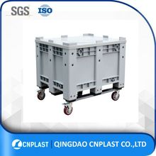 Heavy duty Storage liquid bulk container wholesale solid wall Plastic Pallet Boxes with Lids