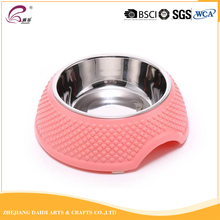 Pet Supplies Eco-friendly ABS Plastic Stainless Steel Non-slip Dog Feeding Bowl