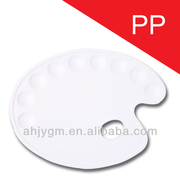 Hot Sale 9 Holes Plastic Painting Palette/drawing color palette.