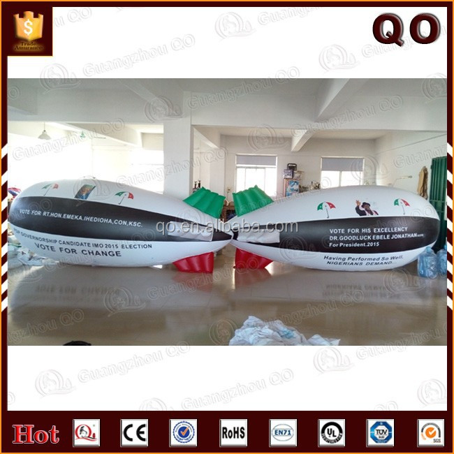 Logo printable attractive inflatable rc airship outdoor