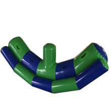 inflatable floating water seesaw totter kids water game outdoor water sport equipment